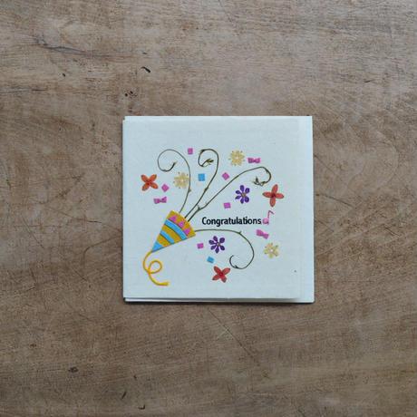 第3世界ショップ / 手漉き紙 ミニカード・お祝い