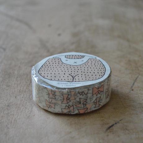 絵と木工のトリノコ / ちょうちょ マスキングテープ 1巻パック(ピンク)