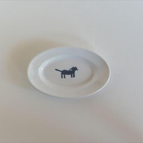 トラネコボンボン / 猫の楕円皿(小)