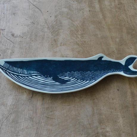 KATA KATA / 印判手長皿 クジラ