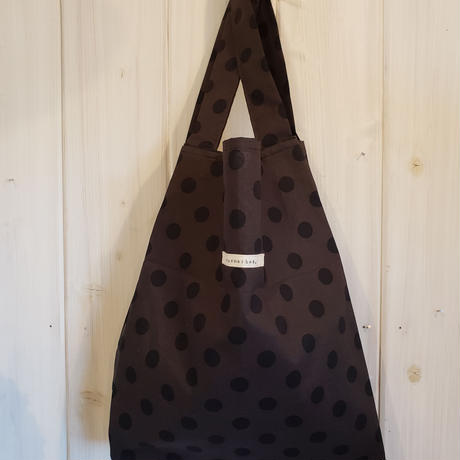 eco bag. mizutama darkblown.