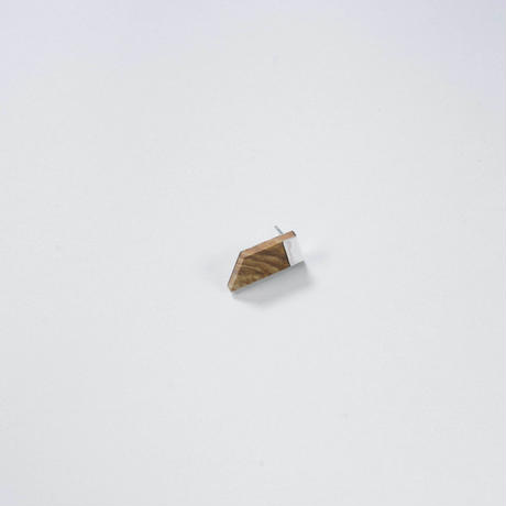 Sand stone slant pierced earring