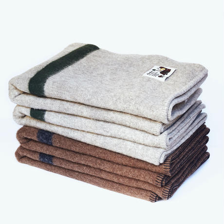 【Light Grey × Oregon Green 】Armchair Blanket