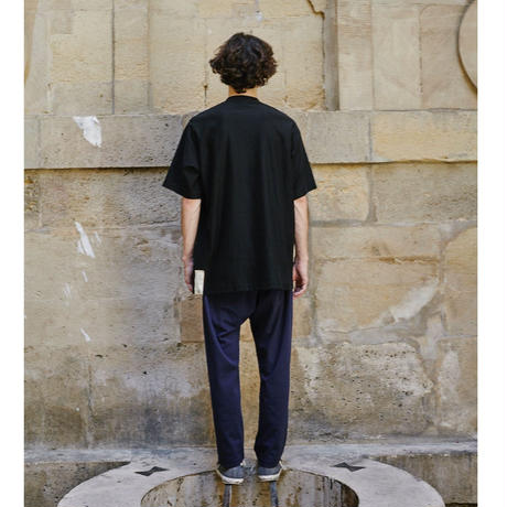 C01T // DISCLOSED  PRINTED BLACK T-SHIRTS