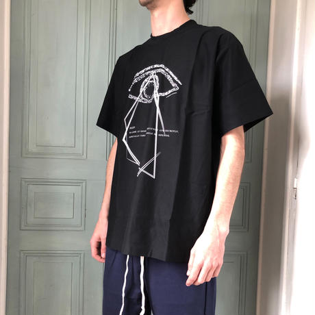 C01T // PEEP PRINTED BLACK T-SHIRTS