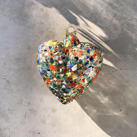 Mexican Glass big heart ornament