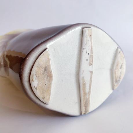 VTG pottery horse head flower vase