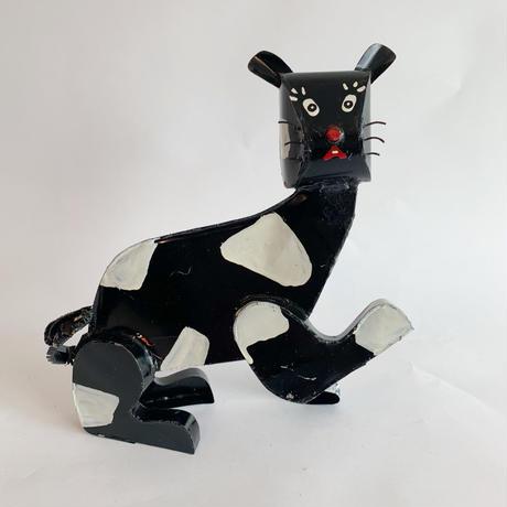 African tinplate cat / Black × White