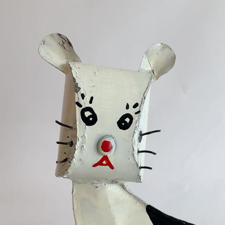African tinplate cat / White × Black