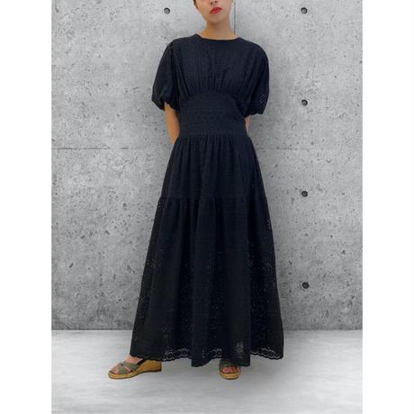 diploa | EYELET DRESS | Black