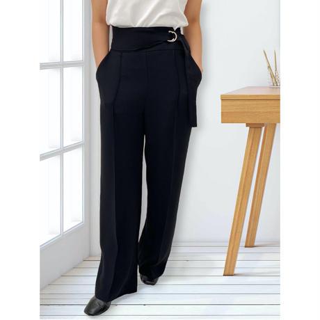 diploa | SIDE BELTED WIDE PANTS | Black