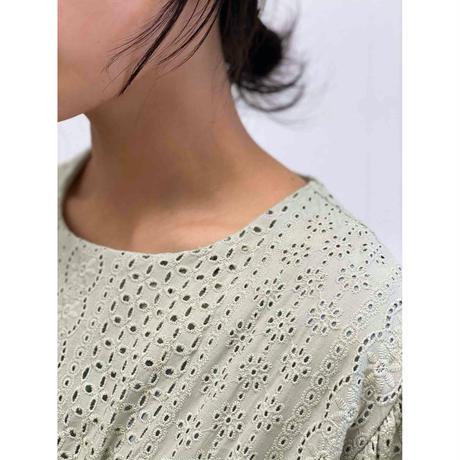 diploa | EYELET DRESS | Sage