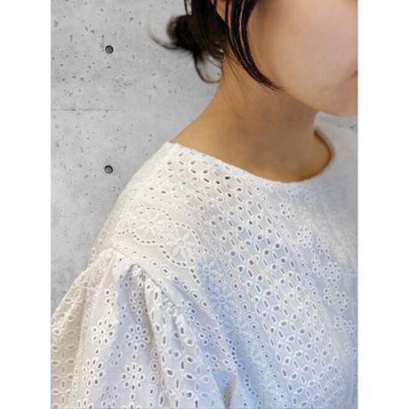 diploa | EYELET DRESS | White