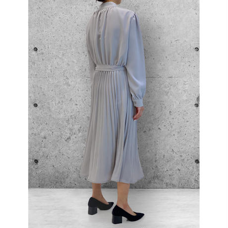 diploa | ACCORDION PLEATED DRESS | Dove Gray