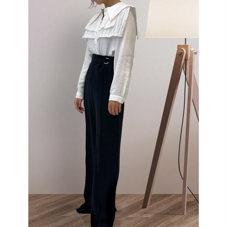 diploa | PINTUCK TIERED BLOUSE | White