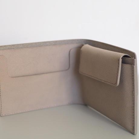 二つ折り財布| 収める納まる #グレー