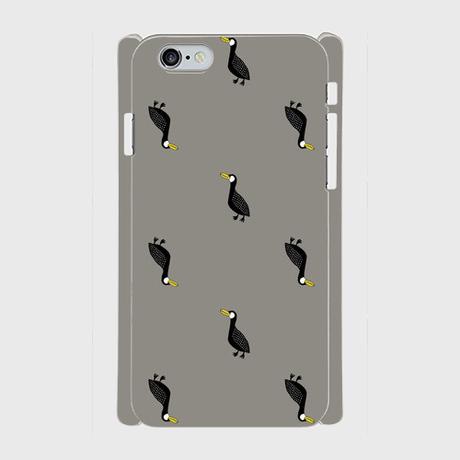 MOMENT BIRD GRAY 側表面印刷スマホケース iPhone6/6S