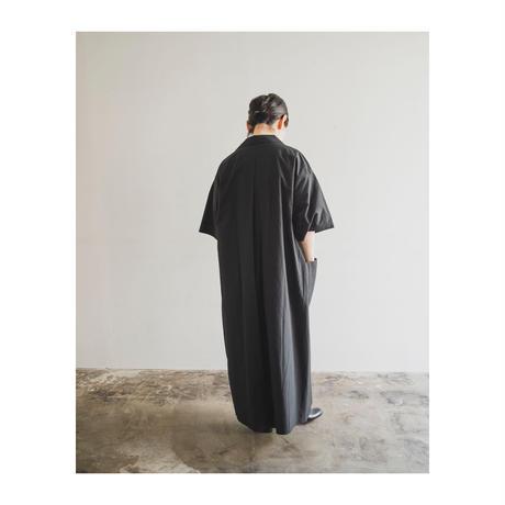 somewearclothing 5分袖オープンカラーワンピース