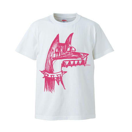 犬イラストTシャツ / ホワイト