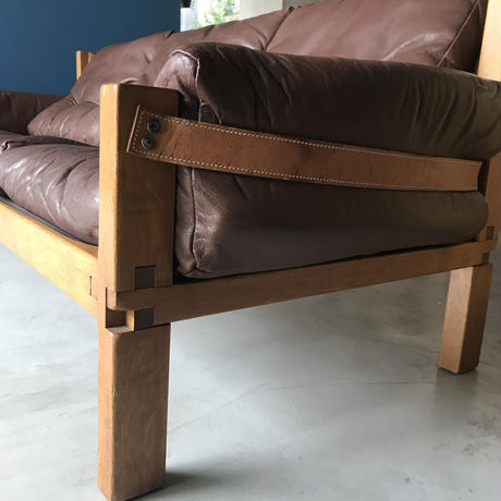 [※PRICE/ASK]S32 Sofa (Solid Oak) / Pierre Chapo / ca.1960
