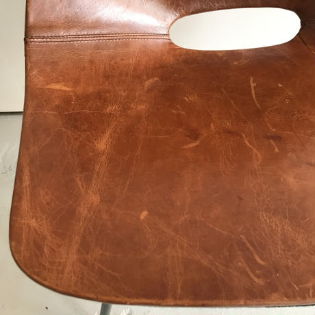 Tonneau Chair-Real Leather / Pierre Guariche-2