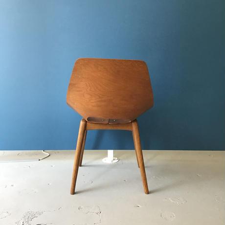 Amsterdam (Tonneau) Chair-Wood Leg / Pierre Guariche
