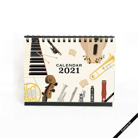 2021年卓上カレンダー[4月始まり]