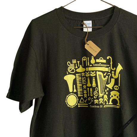 ゴールドプリントTシャツ&ボトルセット