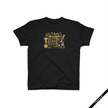 ゴールドプリントTシャツ
