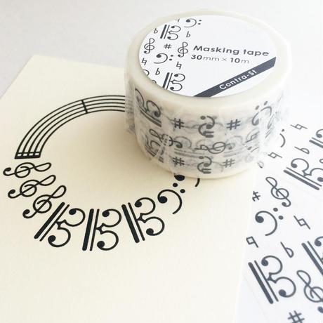 マスキングテープ&ポストカードセット[黒]