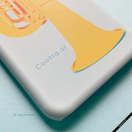 カバー型iPhoneケース[チューバ]11pro / X / XS / 8 / 7 / 6 / 6s / SE(第2世代)