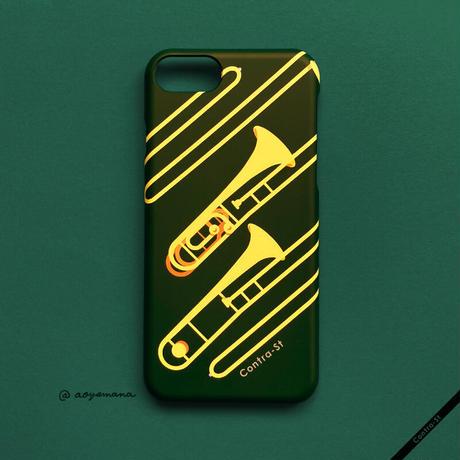 カバー型iPhoneケース[トロンボーン]11pro / X / XS / 8 / 7 / 6 / 6s / SE(第2世代)