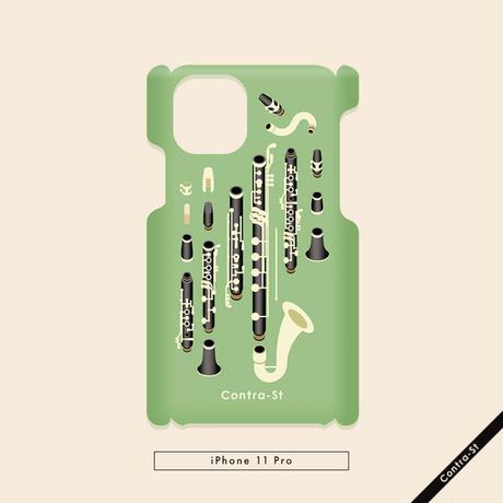 カバー型iPhoneケース[クラリネット]11pro / X / XS / 8 / 7 / 6 / 6s / SE(第2世代)