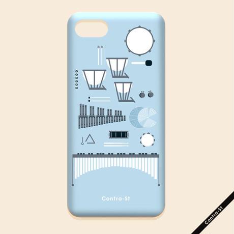 カバー型iPhoneケース[打楽器]11pro / X / XS / 8 / 7 / 6 / 6s / SE(第2世代)