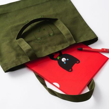 クックマ刺繍トートバッグ  |  カーキ