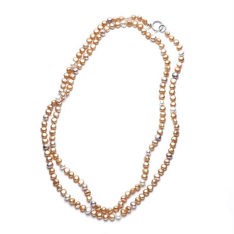 Sunshine Gold Mermaid Pearl Long Silver Clasp