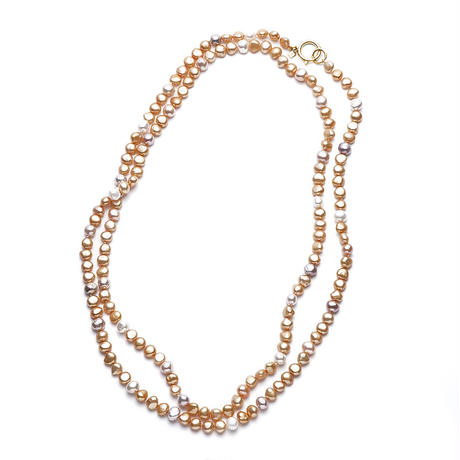 Sunshine Gold Mermaid Pearl Long Gold Clasp
