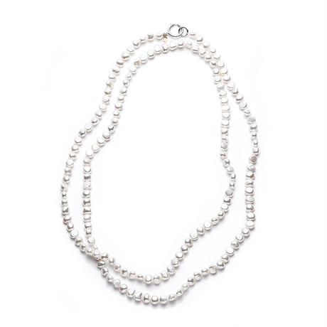 White Mermaid Pearl Long Silver Clasp
