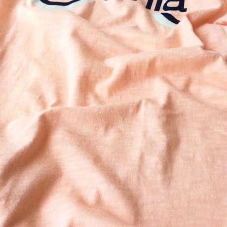 ●送料全国一律198円●<men>Velva Sheen(ベバシーン) ロゴプリントTシャツ 161868 サーモンピンク