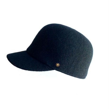 <unisex> Nine  Tailor(ナインテーラー)ウールポロキャップCatal cap(N-201) / ブラック