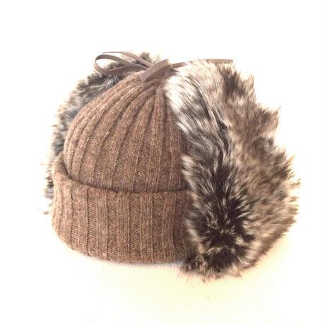 <unisex> Nine  Tailor(ナインテーラー)ファー耳当て付きニットキャップLanding knit watch(N-294) / モカ