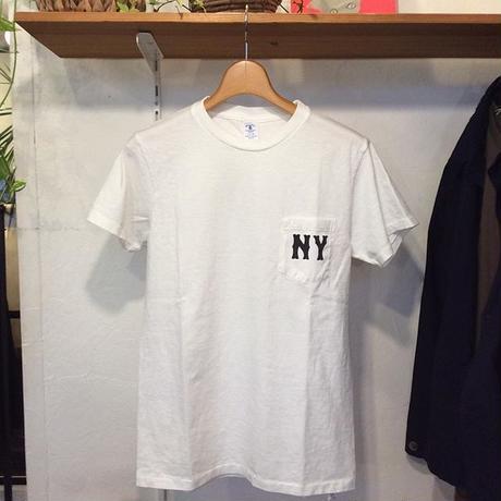 ●送料185円●<men>Velva Sheen(ベバシーン)ロゴプリント ポケットTシャツ (161980)/ホワイト