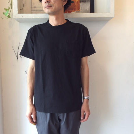 ●送料全国一律198円●<men>MAKERS(メーカーズ) 10OZ ヘビーウエイトポケットTシャツ MAKE0001/ブラック