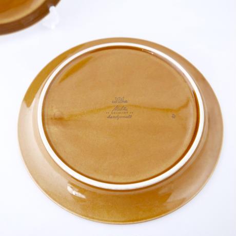 平皿2枚組 茶色