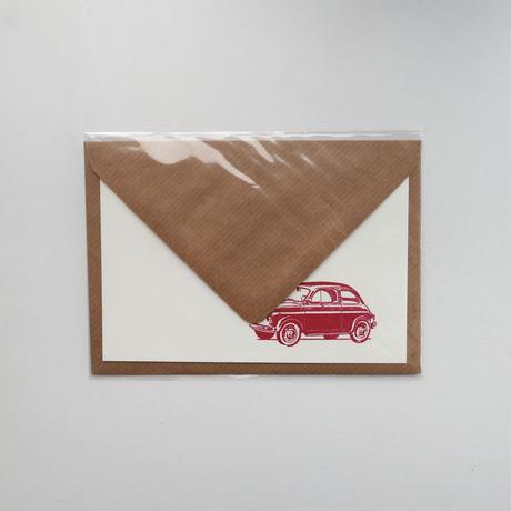 サブリナさんのカード 赤い車