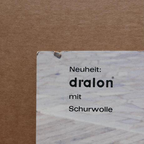 旧ドイツ製 dralon看板