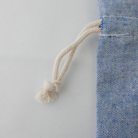 ミニ巾着 ブルー