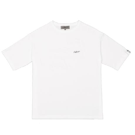 BIG SILHOUETTE T-SHIRT / WHITE <L-2126>