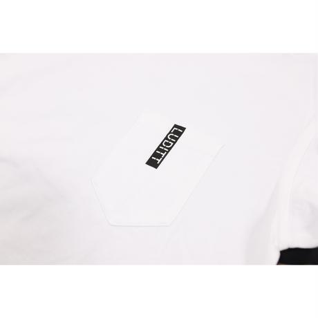 BIG SILHOUETTE POCKET T-SHIRT  / WHITE <L-2003>