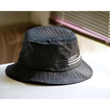 NYLON BUCKET HAT / BLACK <L-2121>